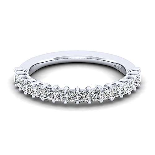 Gabriel - 14k White Gold Princess Cut 16 Stone Diamond Anniversary Band