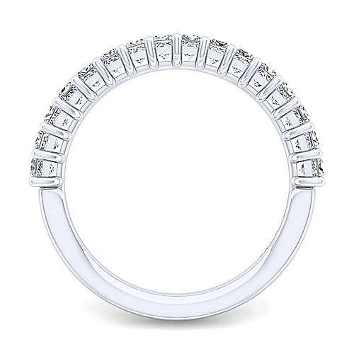 14k White Gold Princess Cut 16 Stone Diamond Anniversary Band angle 2