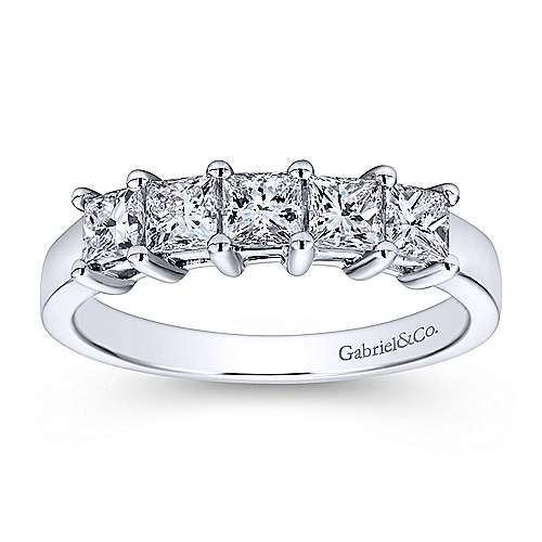 eternity bands white band princess gabriel anniversary gold product cut contemporary