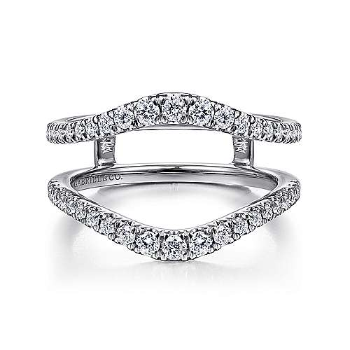 14k White Gold Prong Set Diamond Enhancer Anniversary Band