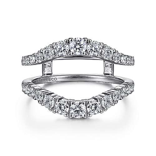 Gabriel - 14k White Gold Prong Set Diamond Enhancer
