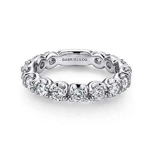 wedding round set band loading prong diamond anniversary eternity bands zoom