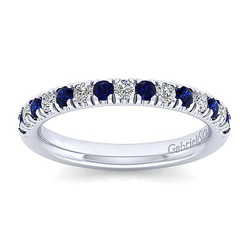 band white enhancer gabriel product gold bands anniversary sapphire contemporary