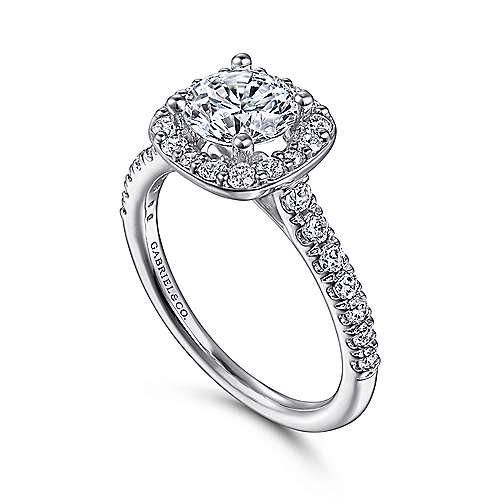 14k white gold round halo engagement ring er6872w44jj. Black Bedroom Furniture Sets. Home Design Ideas