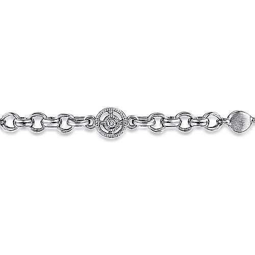14k White Gold Secret Garden Chain Bracelet angle 2