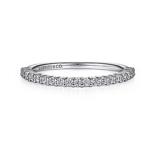 Gabriel - 14k White Gold Shared Prong Anniversary Band