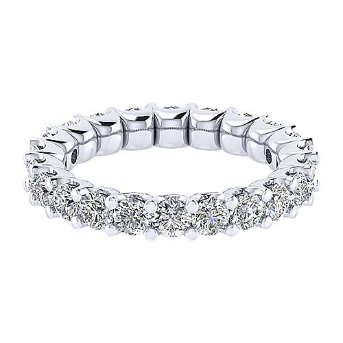 Gabriel - 14k White Gold Shared Prong Eternity Band