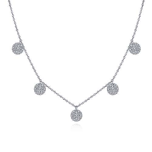 14k White Gold Silk Choker Necklace angle 1