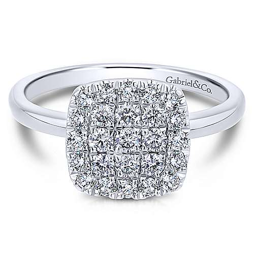 Gabriel - 14k White Gold Silk Classic Ladies' Ring