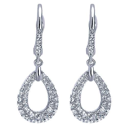 Gabriel - 14k White Gold Silk Drop Earrings