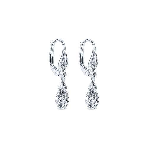 14k White Gold Silk Drop Earrings