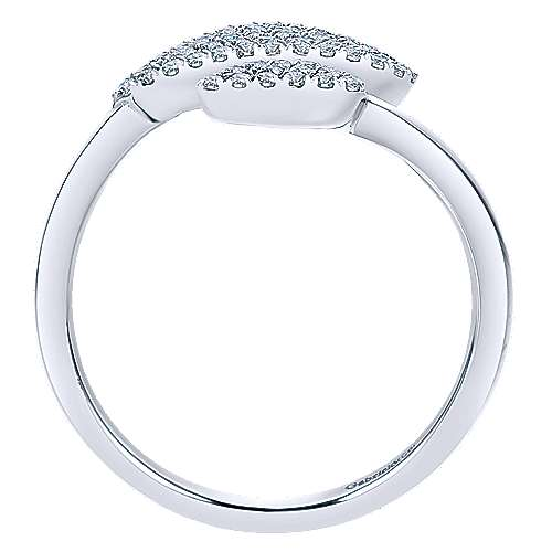 14k White Gold Silk Fashion Ladies' Ring angle 2
