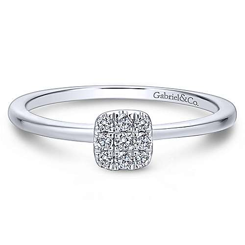 Gabriel - 14k White Gold Silk Fashion Ladies' Ring