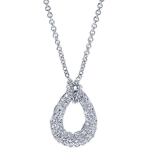 Gabriel - 14k White Gold Silk Fashion Necklace