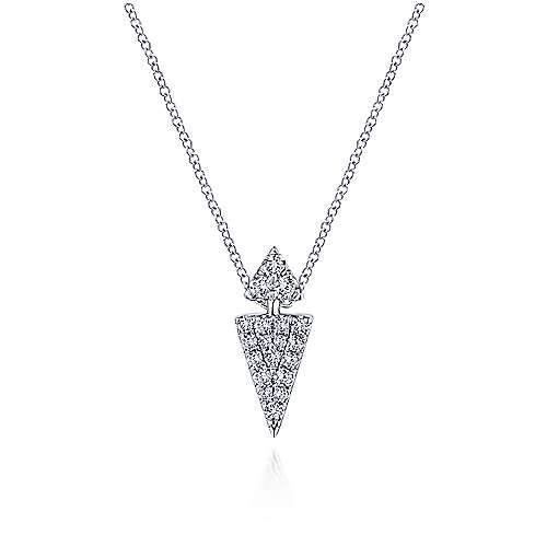 14k White Gold Silk Fashion Necklace angle 1