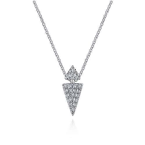 14k White Gold Silk Fashion Necklace angle 1