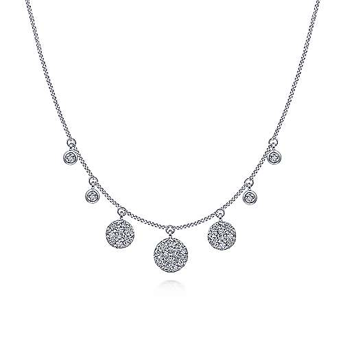 14k White Gold Silk Fashion Necklace