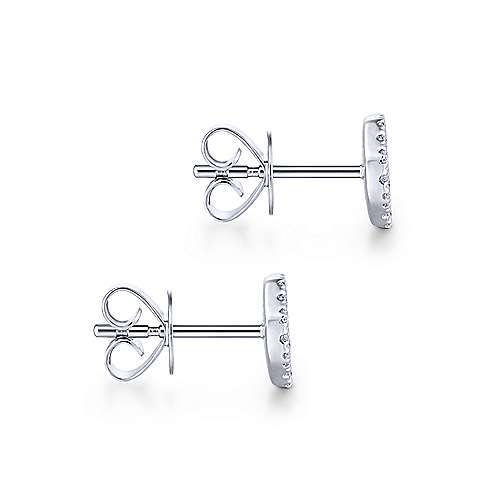 14k White Gold Silk Stud Earrings angle 3