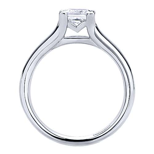 14k White Gold Solitaire Engagement Ring angle 2