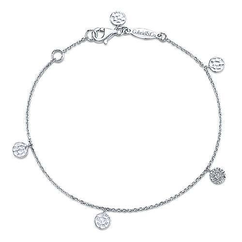 Gabriel - 14k White Gold Souviens Chain Bracelet