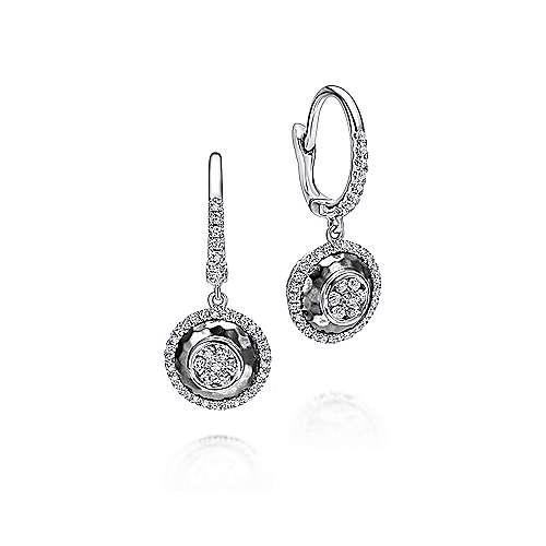Gabriel - 14k White Gold Souviens Drop Earrings