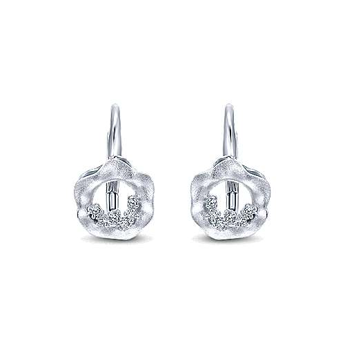 Gabriel - 14k White Gold Souviens Drop Earrings