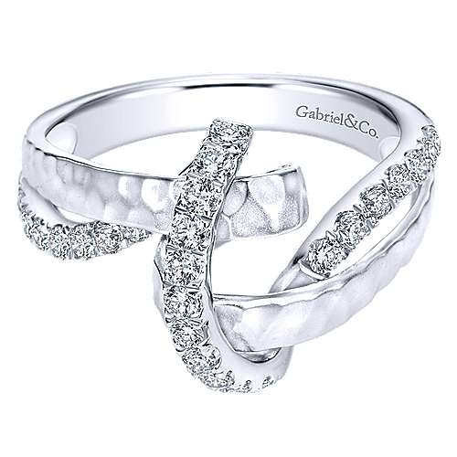 Gabriel - 14k White Gold Souviens Fashion Ladies' Ring