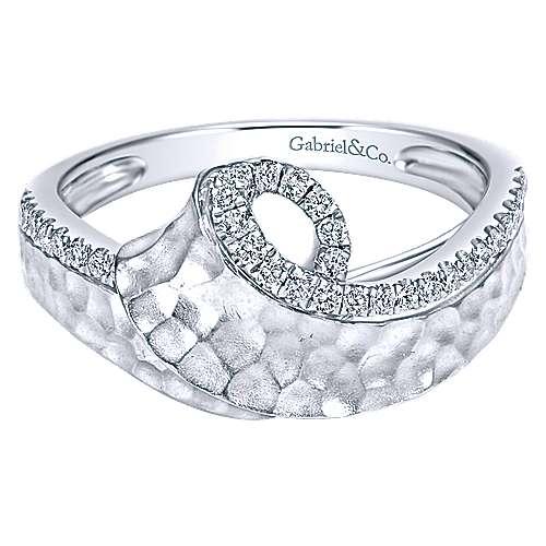 14k White Gold Souviens Fashion Ladies' Ring angle 1