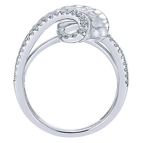 14k White Gold Souviens Fashion Ladies' Ring angle 2