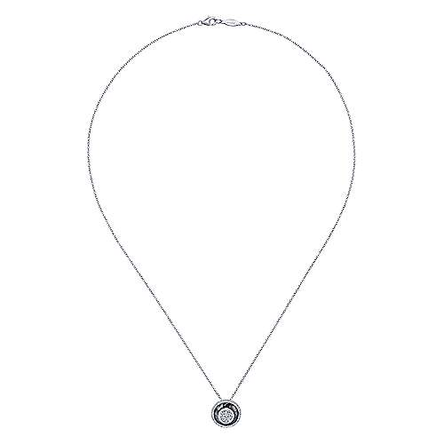 14k White Gold Souviens Fashion Necklace angle 2