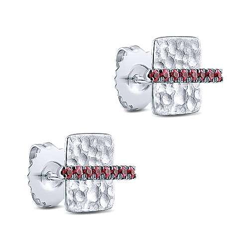 14k White Gold Souviens Stud Earrings angle 2