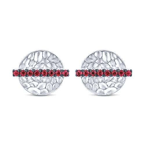 14k White Gold Souviens Stud Earrings angle 1