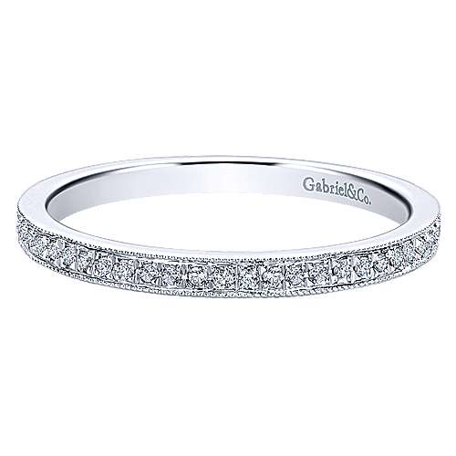 Gabriel - 14k White Gold Stackable Eternity Stackable Ladies' Ring