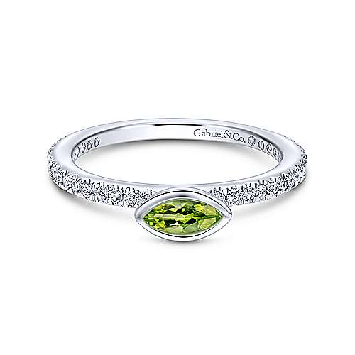 14k White Gold Stackable Fashion Ladies' Ring angle 1
