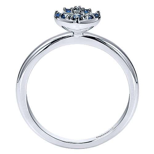 14k White Gold Stackable Fashion Ladies' Ring angle 2