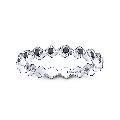 14k White Gold Stackable Ladies