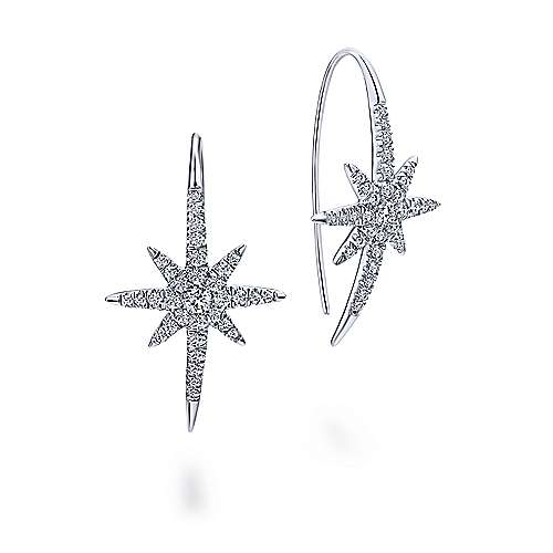 Gabriel - 14k White Gold Starlis Drop Earrings