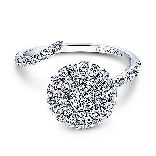 Gabriel - 14k White Gold Starlis Fashion Ladies' Ring