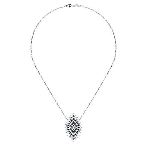 14k White Gold Starlis Fashion Necklace angle 2