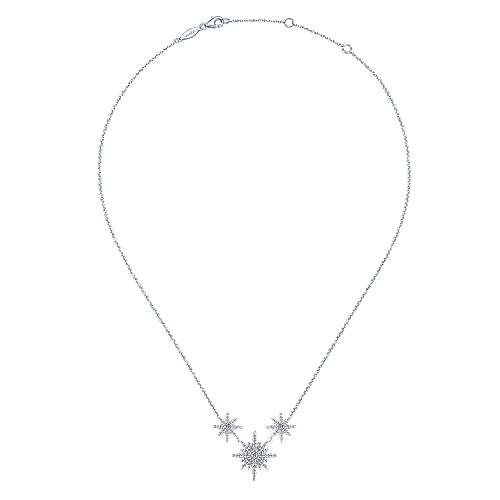 14k White Gold Starlis Fashion Necklace angle 2