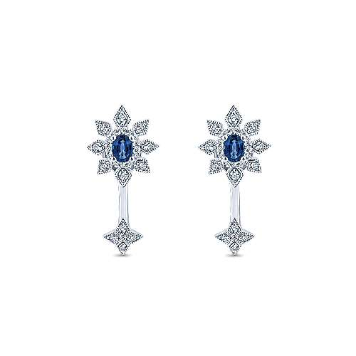 14k White Gold Starlis Peek A Boo Earrings