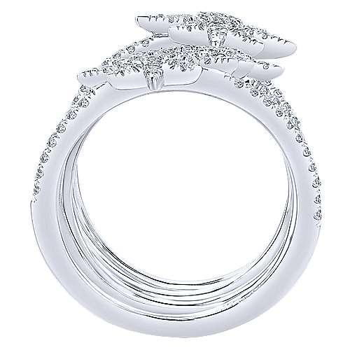 14k White Gold Starlis Statement Ladies' Ring angle 2