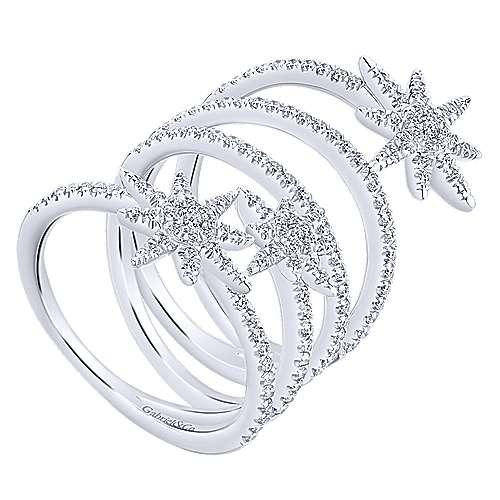 14k White Gold Starlis Statement Ladies' Ring angle 3