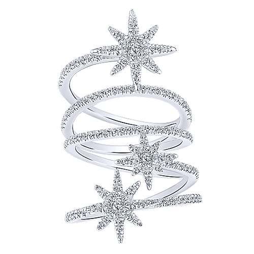 14k White Gold Starlis Statement Ladies' Ring angle 4