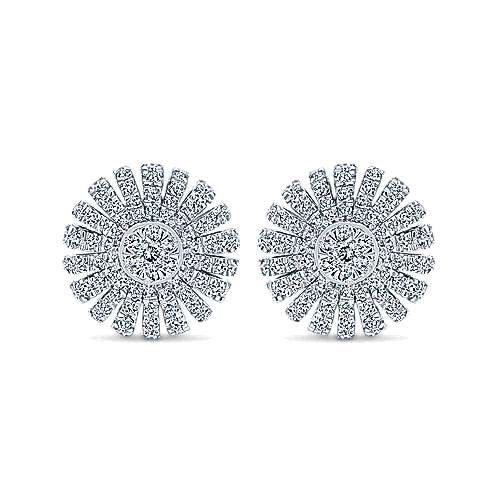 Gabriel - 14k White Gold Starlis Stud Earrings