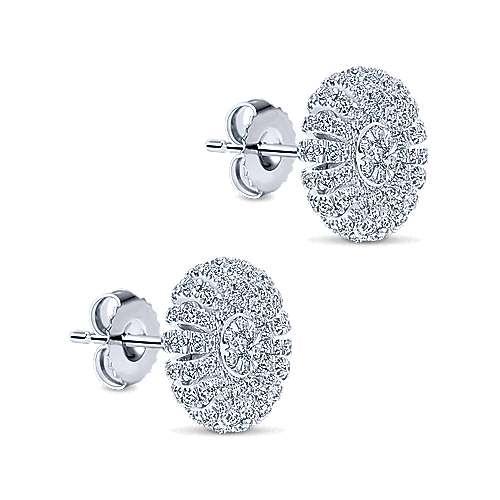 14k White Gold Starlis Stud Earrings angle 2