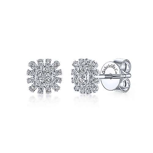 19d68bf4b 14k White Gold Starlis Stud Earrings | EG12893W45JJ | Gabriel & Co