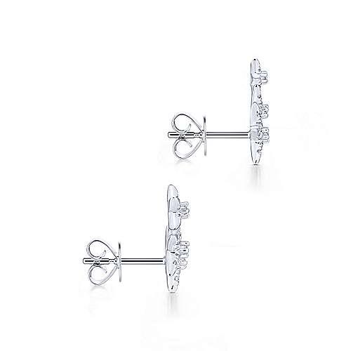 14k White Gold Starlis Stud Earrings angle 3
