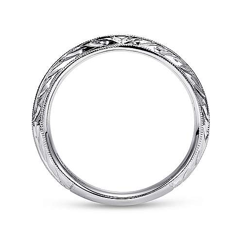 14k White Gold Straight Wedding Band angle 2
