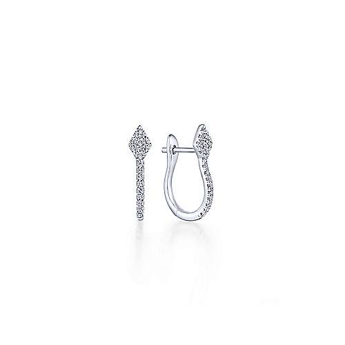Gabriel - 14k White Gold Stuggies Huggie Earrings